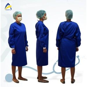 Harga baju apd surgical gown jubah operasi bahan katun drill biru   HARGALOKA.COM