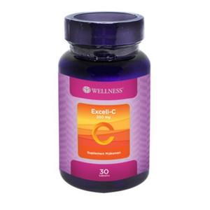 Harga wellness excell c 300mg 30 tablet vitamin c untuk daya tahan | HARGALOKA.COM