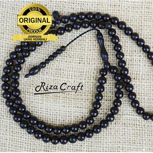 Harga tasbih kayu kaukah kokka bulat hitam asli turki arab mekah 99 | HARGALOKA.COM