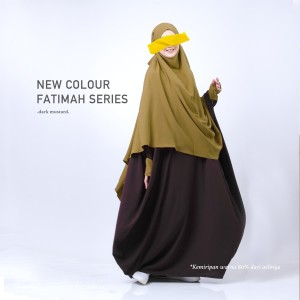 Harga french khimar set   fatimah series margaw   dark mustard   | HARGALOKA.COM
