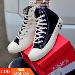 Harga sepatu converse all star 70s high x off white original premium import   | HARGALOKA.COM