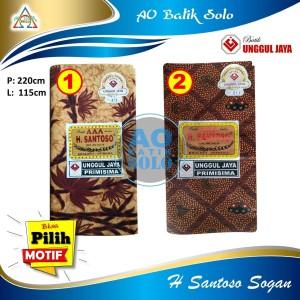 Harga kain batik jarik h santoso sogan unggul jaya primisima kain panjang   motif | HARGALOKA.COM