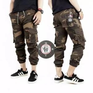 Harga temukan sz 28   34 celana jogger cargo loreng pria joger pants army   cokelat | HARGALOKA.COM