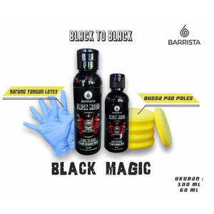 Harga ready black magic barrista   penghitam plastik body motor mobil   60 | HARGALOKA.COM