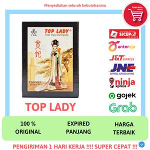 Harga top lady hair dye shampoo 1 box isi 6 pcs semir cat rambut hitam 15 | HARGALOKA.COM