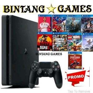 Harga ps4 slim hdd 1tb dan 500gb isi full games 1 stik   mesin | HARGALOKA.COM