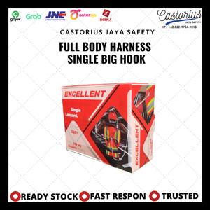 Harga full body harness single big hook exellent good quality safety   HARGALOKA.COM
