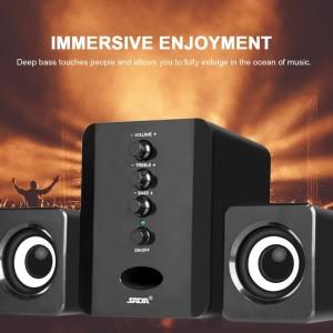 Harga speaker stereo 2 1 with subwoofer amp usb power hifi hd full | HARGALOKA.COM