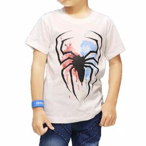 Harga baju kaos anak distro super laba laba putih terbaru cotton asli   | HARGALOKA.COM