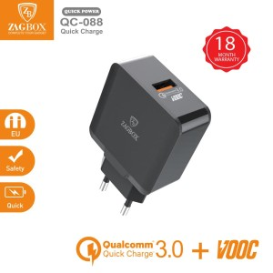 Harga adaptor charger zagbox 1 port usb quick charge qualcomm 3 0 | HARGALOKA.COM