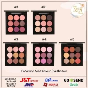 Harga focallure nine colour 9 colors eyeshadow palette   no | HARGALOKA.COM