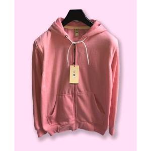 Harga jaket hoodie zipper resletin camoe original merah muda baby pink basic   | HARGALOKA.COM