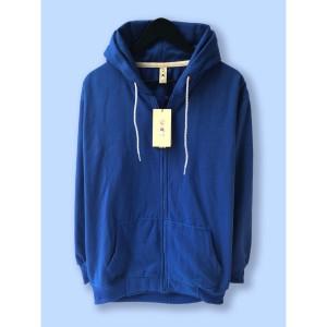 Harga jaket hoodie zipper resleting premium camoe original biru blue basic   | HARGALOKA.COM