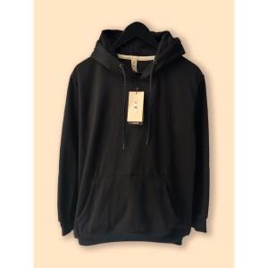 Harga jaket hoodie premium camoe original black hitam basic   | HARGALOKA.COM