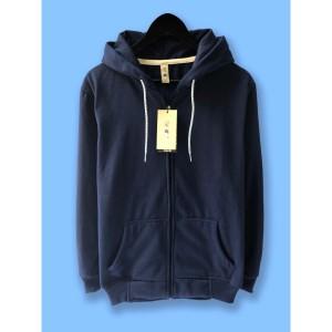 Harga jaket hoodie zipper resleting camoe original biru navi navy blue basic   | HARGALOKA.COM