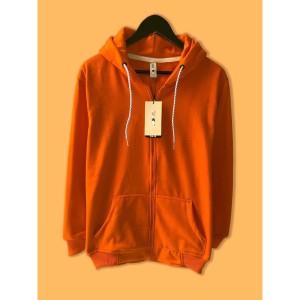 Harga jaket hoodie zipper resleting premium camoe original oren orange basic   | HARGALOKA.COM