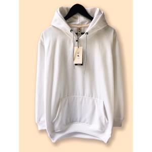 Harga jaket hoodie premium camoe original white putih basic   | HARGALOKA.COM