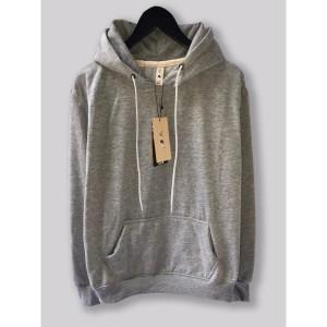 Harga jaket hoodie premium camoe original abu muda misty light grey basic   | HARGALOKA.COM