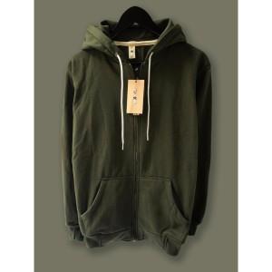 Harga jaket hoodie zipper resleting camoe original hijau armi army basic   | HARGALOKA.COM