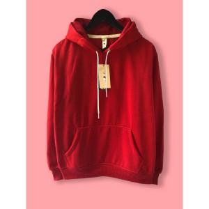 Harga jaket hoodie premium camoe original red merah basic   | HARGALOKA.COM