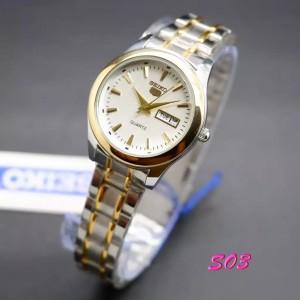 Harga jam tangan seiko 5 s030 wanita rantai kombinasi stainless   HARGALOKA.COM