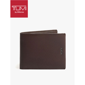 Harga t u m i nassau global double billfold  dompet pria  leather dark | HARGALOKA.COM