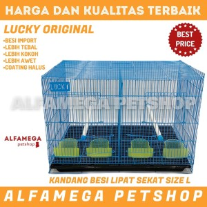 Harga kandang umbaran besi lipat sekat burung kucing anjing size l | HARGALOKA.COM