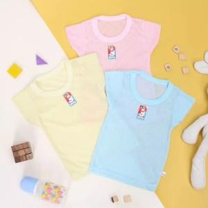 Harga kaos oblong bayi dan anak merk power kids kualitas sni   merah muda   HARGALOKA.COM