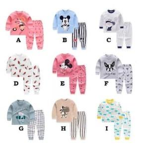 Harga 0 6 tahun setelan lengan panjang anak set baju piyama anak part 1   set h   HARGALOKA.COM