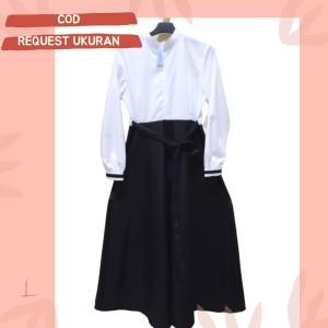 Harga gamis dinas hitam putih   | HARGALOKA.COM