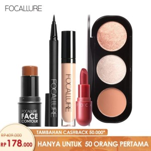 Harga focallure bundle blush highlighter eyeliner concealer contour | HARGALOKA.COM
