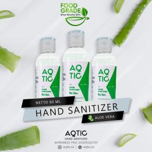 Harga hand sanitizer aqtic 60ml ethyl alcohol 80 food grade | HARGALOKA.COM