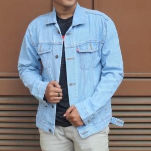 Harga jaket jeans pria levis jaket jeans pria premium   jkt birumuda | HARGALOKA.COM
