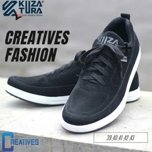 Harga sepatu casual hitam pria keren kuzatura   ukuran 39 40 41 42 | HARGALOKA.COM