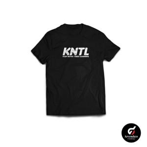 Harga kaos kata kntl keep never tired learning sevendays clothing   hitam | HARGALOKA.COM