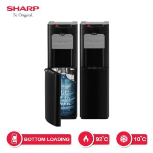 Harga water dispenser sharp galon bawah swd 80ehl bk bottom loading | HARGALOKA.COM