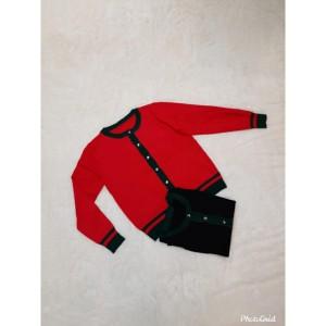 Harga kardigan rajut import wanita motif polos   big size   hitam all   HARGALOKA.COM