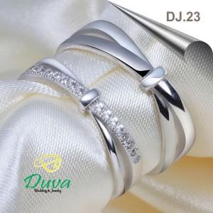 Harga cincin kawin nikah couple emas putih 25 dan platinum 15 dj | HARGALOKA.COM