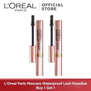 Harga l 39 oreal paris mascara waterproof lash paradise black buy 1 get   HARGALOKA.COM