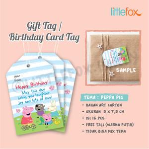 Harga gift tag birthday card tag thank you card ucapan ultah anak   peppa   HARGALOKA.COM