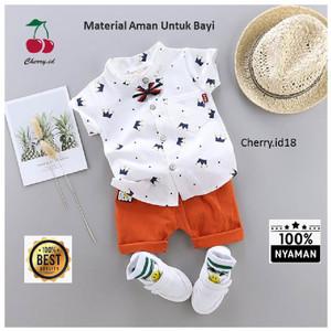 Harga 0 2 thn cod setelan kemeja baju bayi import pakaian baju laki laki   putih 15 30 | HARGALOKA.COM