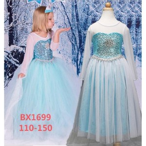 Harga kostum elsa anak frozen baju dress gaun pesta ultah princess bx1699   | HARGALOKA.COM