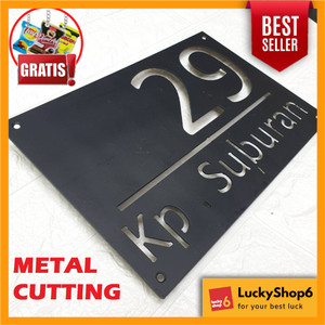 Harga nomor rumah papan alamat custom metal cutting modern minimalis | HARGALOKA.COM