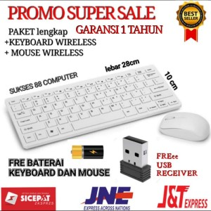 Harga paket keyboard wireless mouse wireless for laptop smartphone tablet   | HARGALOKA.COM