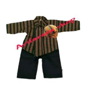 Harga baju adat jawa baju sorjan anak komplit   2 3 tahun | HARGALOKA.COM