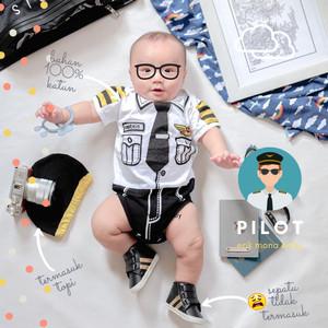 Harga baju jumper bayi pilot karakter   | HARGALOKA.COM