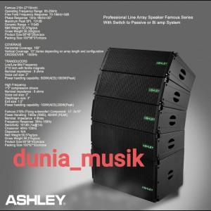 Harga speaker line array ashley famous 210 | HARGALOKA.COM