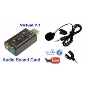 Harga paket mic clip on audio splitter model y sound card 7 | HARGALOKA.COM