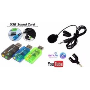 Harga paket mic clip on audio splitter model y sound card 5 | HARGALOKA.COM
