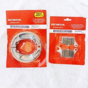 Harga kombo duel kampas rem depan amp belakang honda vario 125 cbs | HARGALOKA.COM
